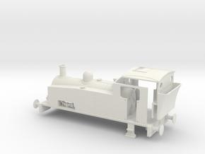 Hudswell Clarke 0-6-0 shunter (for RTR chassis) in White Natural Versatile Plastic