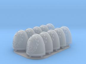 Legio Cybernetica Shoulderpads 10x 40k in Smoothest Fine Detail Plastic