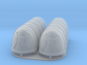 Night Lords Shoulderpads 10x 40k in Smooth Fine Detail Plastic