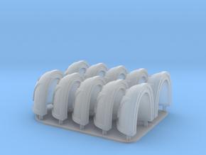 Death Guard Shoulderpads 10x 40k in Smooth Fine Detail Plastic