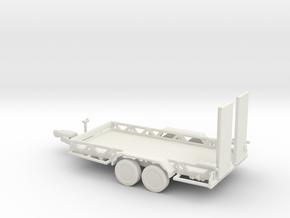 O Scale Car Trailer in White Natural Versatile Plastic