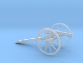 1/72 Scale American Civil War Cannon M1857 in Smooth Fine Detail Plastic