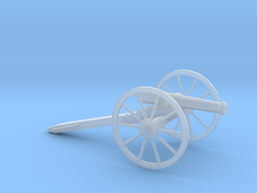 1/100 Scale American Civil War Cannon M1857 in Smooth Fine Detail Plastic