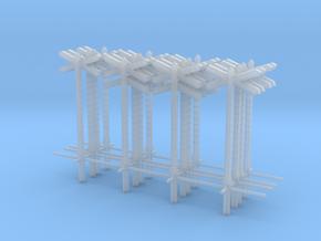 poteau PN vois double et vois simple pour 2 PN in Smooth Fine Detail Plastic: 1:87 - HO