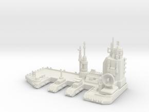 Navy Space Port in White Natural Versatile Plastic
