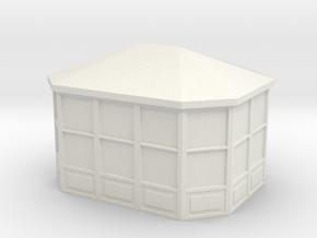 Gazebo 1/87 in White Natural Versatile Plastic