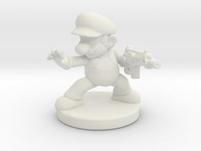 Mario Bros survivor 1/60 miniature for games rpg in White Natural Versatile Plastic