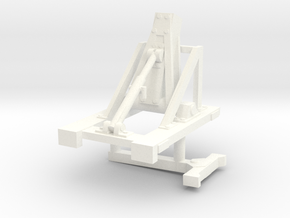 1/50th Lowboy Trailer Boom Stand in White Processed Versatile Plastic