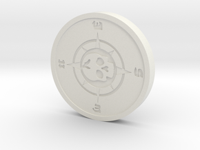 Custom Pin 1 in White Natural Versatile Plastic