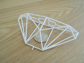 Cobra Mk III Wireframe 1-300 in White Natural Versatile Plastic
