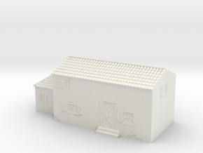 Italian style house 1/87 in White Natural Versatile Plastic