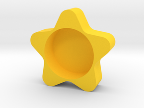 Tealight holder in Yellow Processed Versatile Plastic