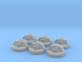 1/400 IJN 127mm Gun Aircraft Carriers set x6 in Smooth Fine Detail Plastic