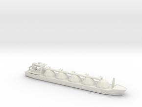 1/2400 Scale LNG Tanker in White Natural Versatile Plastic