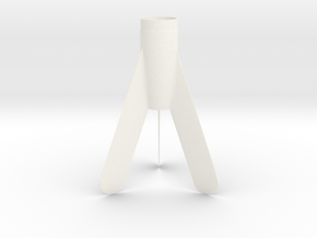 Maxi Streak Fin Unit  for 18mm in White Processed Versatile Plastic
