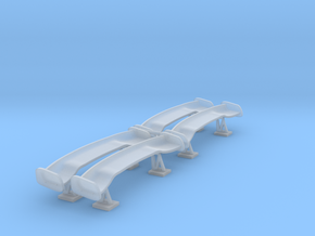 Set of 4 - APR Style CF Wings  in Smooth Fine Detail Plastic