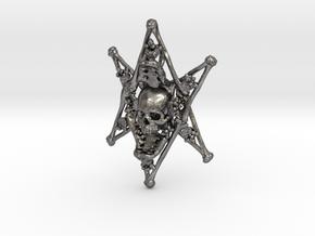 Thelema Bone Pendant in Polished Nickel Steel