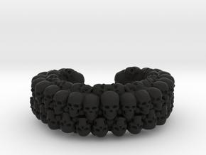 CATACOMB BANGLE V2 in Black Premium Versatile Plastic: Extra Small