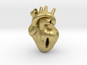 Damaged Heart in Natural Brass