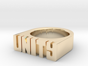 18.9mm Replica Rick James 'Unity' Ring in 14K Yellow Gold