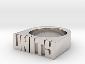 18.9mm Replica Rick James 'Unity' Ring in Platinum