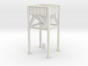 OO / HO / Trackmaster Hopper in White Natural Versatile Plastic