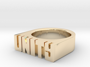 16.5mm Replica Rick James 'Unity' Ring in 14K Yellow Gold