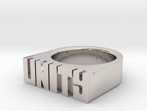 16.5mm Replica Rick James 'Unity' Ring in Platinum