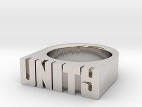 17.9mm Replica Rick James 'Unity' Ring in Platinum