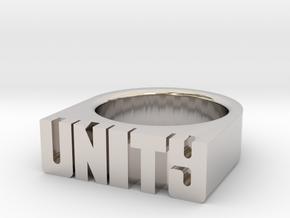 21.8mm Replica Rick James 'Unity' Ring in Platinum