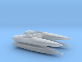 cigarette boats - waterline 1:350th/1:285th in Smooth Fine Detail Plastic: 1:350