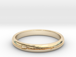 Ring of the Endless Hunt in 14k Gold Plated Brass: 6 / 51.5