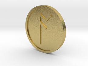 Ac Coin (Anglo Saxon) in Natural Brass