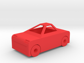 Toy Car in Red Processed Versatile Plastic