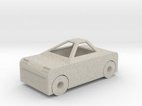 Toy Car in Natural Sandstone