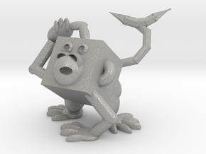 Monkey #3DblockZoo in Aluminum
