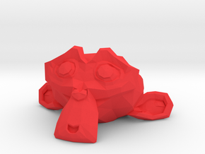 Suzanne the Monkey - Blender 2.8 in Red Processed Versatile Plastic