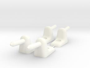 Opel Kadett C sun visor hinge (set of 4 pieces) in White Processed Versatile Plastic