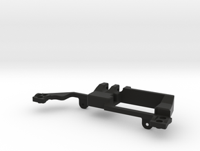 AR60 Servo mount Front in Black Natural Versatile Plastic