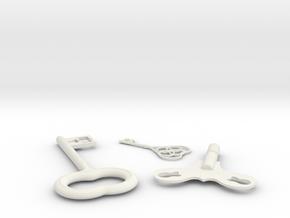 Keys of Shadows in White Natural Versatile Plastic
