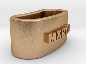 MARTIN 3D Napkin Ring with lauburu in Natural Bronze