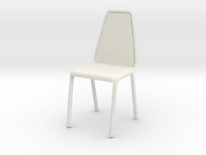 1:48 Vinyl Stacking Chair in White Natural Versatile Plastic: 1:24