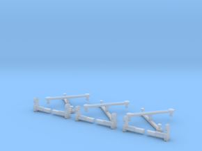 Rowa/MRC 2-8-8-2 Eccentric Rods & Parts N Scale  in Smooth Fine Detail Plastic