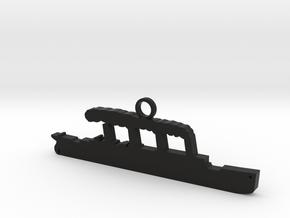 Titanic Pendant: Hull Silhouette in Black Premium Versatile Plastic