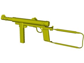 1/15 scale Carl Gustav M-45 submachinegun x 1 in Smooth Fine Detail Plastic