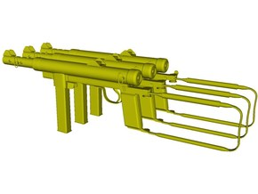 1/24 scale Carl Gustav M-45 submachineguns x 3 in Smooth Fine Detail Plastic