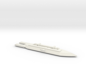 3788 Scale Frax War Destroyer Carrier MGL in White Natural Versatile Plastic