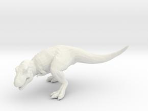 T-Rex Tyrannosaurus 28mm miniature for games - rpg in White Natural Versatile Plastic