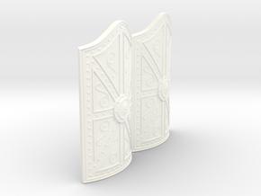 MYCENAEAN RECTANGLE SHIELD X2 in White Processed Versatile Plastic
