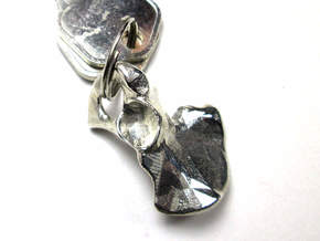 Hip Bone Keychain Fob in Polished Silver